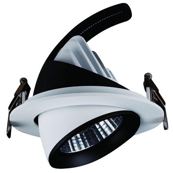 ce downlight rond de ms3g vous permet d'éclairer a votre guise grace son anhl de 50° et son orientabilité. Il renplace un downlight halogène de 160W