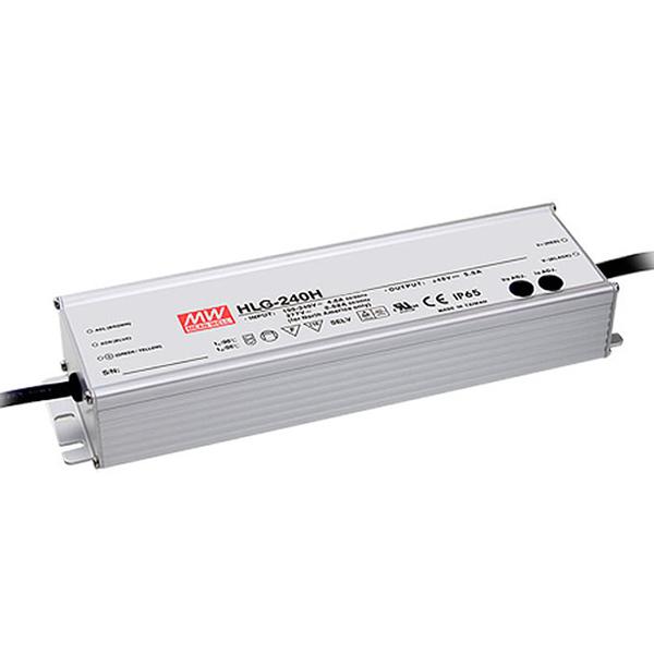 Indice de protection IP67 cette alimentation est dimmable HLG240H-12B et HLG240H-24B de la marque Mean Well