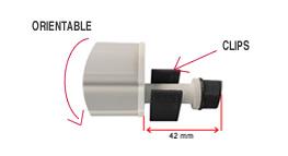 Clips des reglettes LED 17w. Tube led reglable. Juqu'à 20 unités en cascade